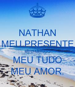 Poster: NATHAN MEU PRESENTE MEU MUNDO MEU TUDO MEU AMOR.