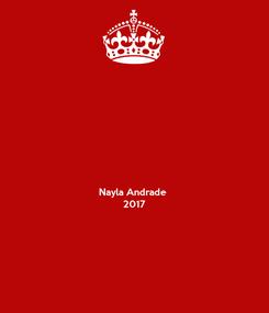 Poster:    Nayla Andrade 2017