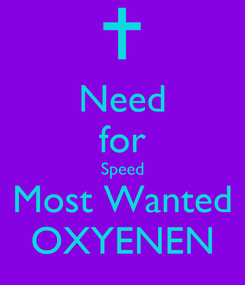 Poster: Need for Speed Most Wanted OXYENEN