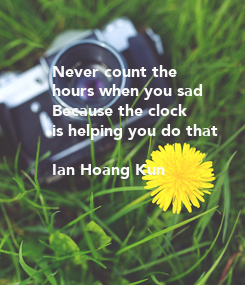 Poster: Never count the