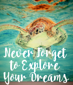 Poster:   Never Forget  to Explore  Your Dreams