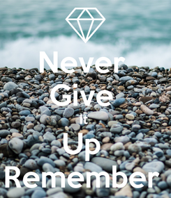Poster: Never  Give  It  Up  Remember