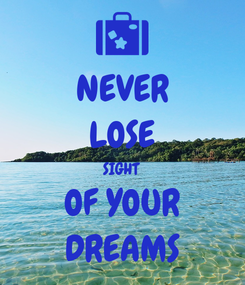 Poster: NEVER LOSE SIGHT  OF YOUR  DREAMS