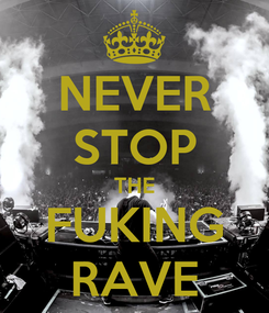 Poster: NEVER STOP THE FUKING RAVE