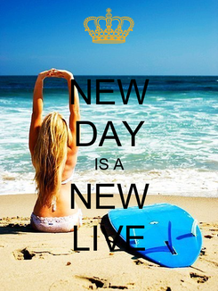 Poster: NEW DAY IS A NEW LIVE