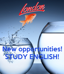 Poster:    New opportunities! STUDY ENGLISH!