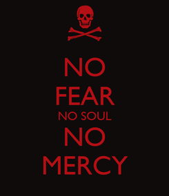 Poster: NO FEAR NO SOUL NO MERCY