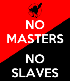 Poster: NO MASTERS  NO SLAVES