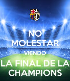 Poster: NO MOLESTAR VIENDO LA FINAL DE LA CHAMPIONS