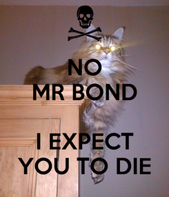 Poster: NO MR BOND  I EXPECT YOU TO DIE