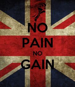 Poster: NO PAIN NO GAIN