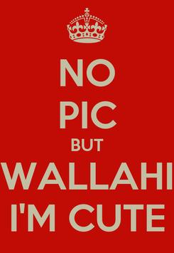 Poster: NO PIC BUT WALLAHI I'M CUTE