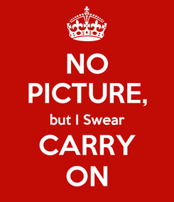 Poster: NO PICTURE, but I Swear CARRY ON