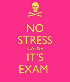 Poster: NO STRESS CAUSE IT'S EXAM