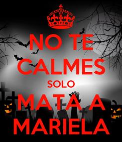 Poster: NO TE CALMES SOLO MATA A MARIELA