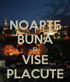Poster: NOAPTE BUNĂ SI VISE PLACUTE