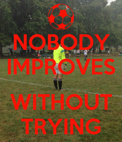 Poster: NOBODY IMPROVES  WITHOUT TRYING