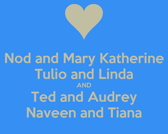 Poster: Nod and Mary Katherine Tulio and Linda AND Ted and Audrey Naveen and Tiana