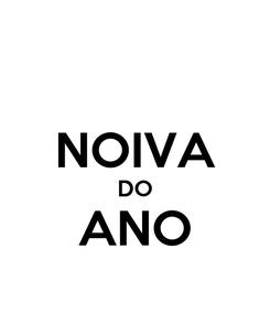 Poster:  NOIVA DO ANO