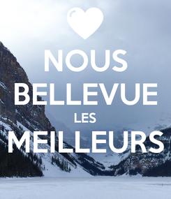 Poster: NOUS BELLEVUE LES MEILLEURS