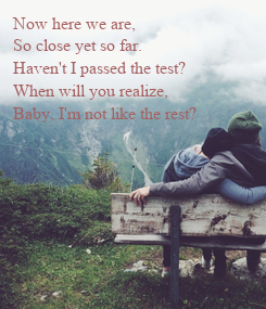 Poster: Now here we are,