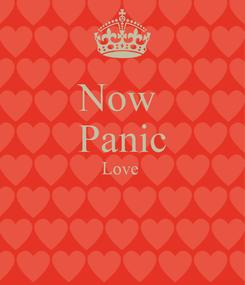Poster: Now  Panic Love