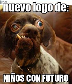 Poster: nuevo logo de: NIÑOS CON FUTURO