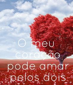 Poster: O meu  coração  pode amar  pelos dois