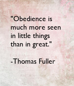 "Poster: ""Obedience is 