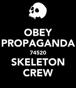 Poster: OBEY PROPAGANDA 74520 SKELETON CREW