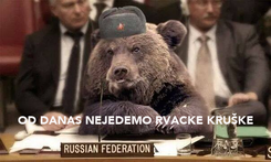 Poster:    OD DANAS NEJEDEMO RVACKE KRUŠKE