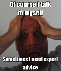 Poster: Of course I talk to myself Sometimes I need expert advice