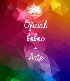 Poster: Oficial boboc în Arte