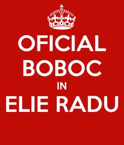 Poster: OFICIAL BOBOC IN ELIE RADU