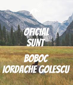 Poster: Oficial Sunt   BOBOC Iordache Golescu