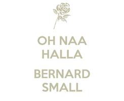 Poster: OH NAA HALLA  BERNARD SMALL