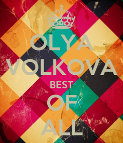 Poster: OLYA VOLKOVA BEST OF ALL