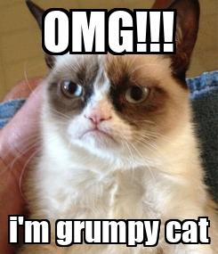 Poster: OMG!!! i'm grumpy cat