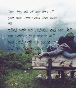 Poster: One day all of me was ill