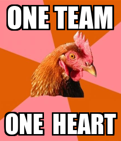 Poster: ONE TEAM ONE  HEART