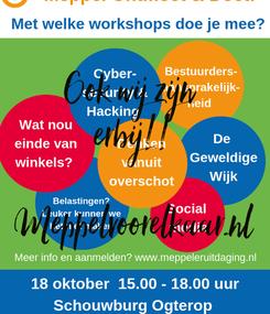 Poster: Ook wij zijn  erbij!!  Meppelvoorelkaar.nl