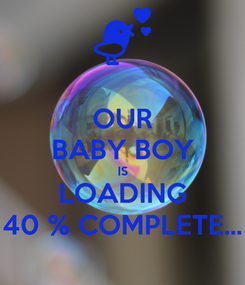 Poster: OUR BABY BOY IS LOADING 40 % COMPLETE...