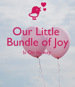 Poster: Our Little  Bundle of Joy Is On its way