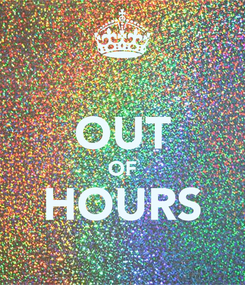 Poster:  OUT OF HOURS