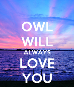 Poster: OWL WILL ALWAYS LOVE YOU