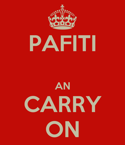 Poster: PAFITI  AN CARRY ON