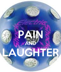 Poster:  PAIN AND LAUGHTER