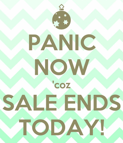 Poster: PANIC NOW 'coz SALE ENDS TODAY!