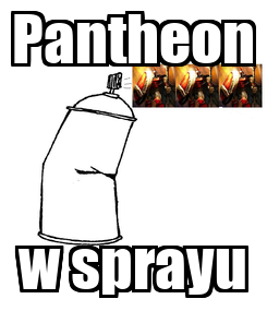 Poster: Pantheon w sprayu