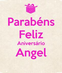 Poster: Parabéns Feliz Aniversário Angel